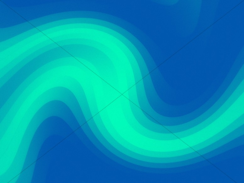 Green Pixel Waves Worship Background