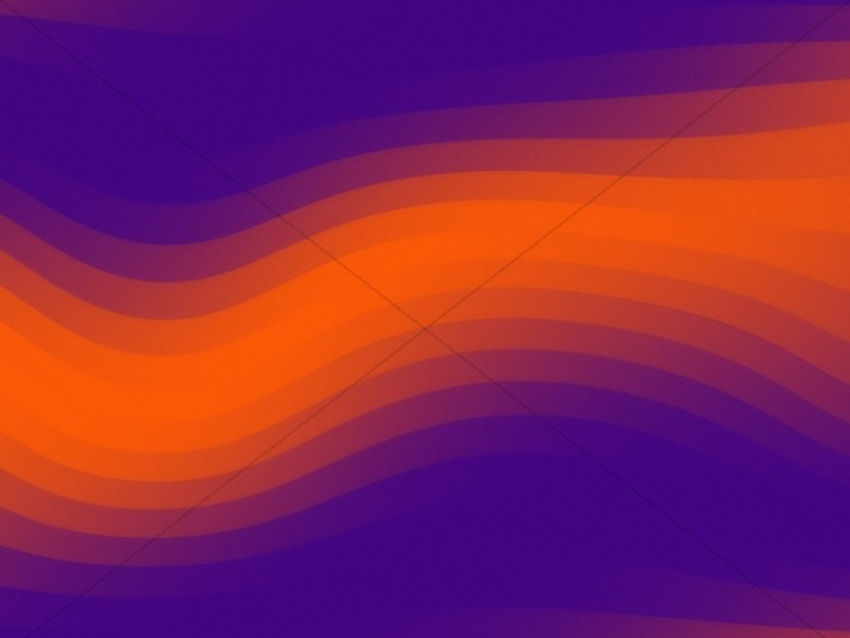 Orange Pixel Waves Worship Background