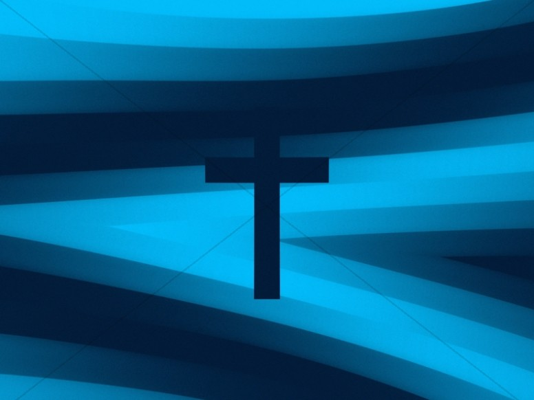 Pixel Waves Cross Worship Background