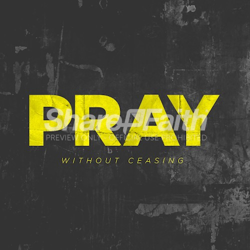 Pray Without Ceasing Social Media Graphic