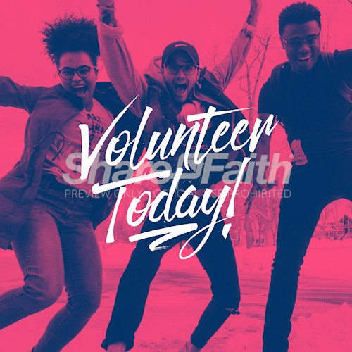 Volunteer Today Social Media Graphic