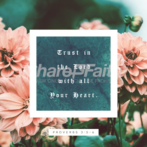 Trust In The Lord Social Media Image