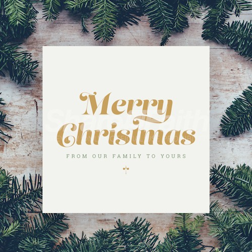 Merry Christmas From Our Family Social Media Image