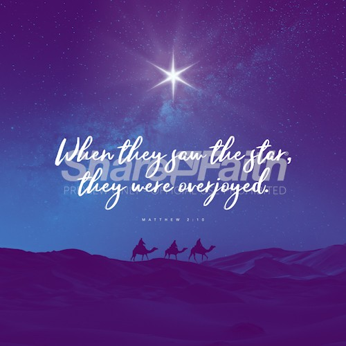 Matthew 2:10 Christmas Social Media Graphic