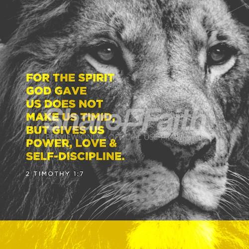 2 Timothy 1:7 Social Media Graphic