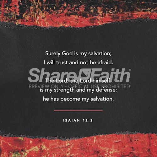 Isaiah 12:2 Social Media Graphic