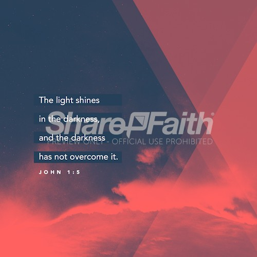 John 1:5 Light Shines In The Darkness Social Media Graphic