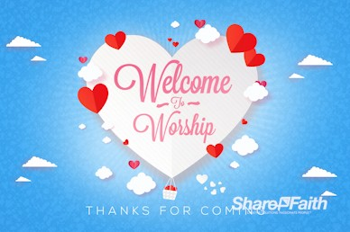 Love Is In The Air Valentine's Day Welcome Bumper Video