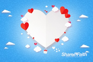 Love Is In The Air Valentine's Day Video Background