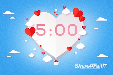 Love Is In The Air Valentine's Day Countdown Timer