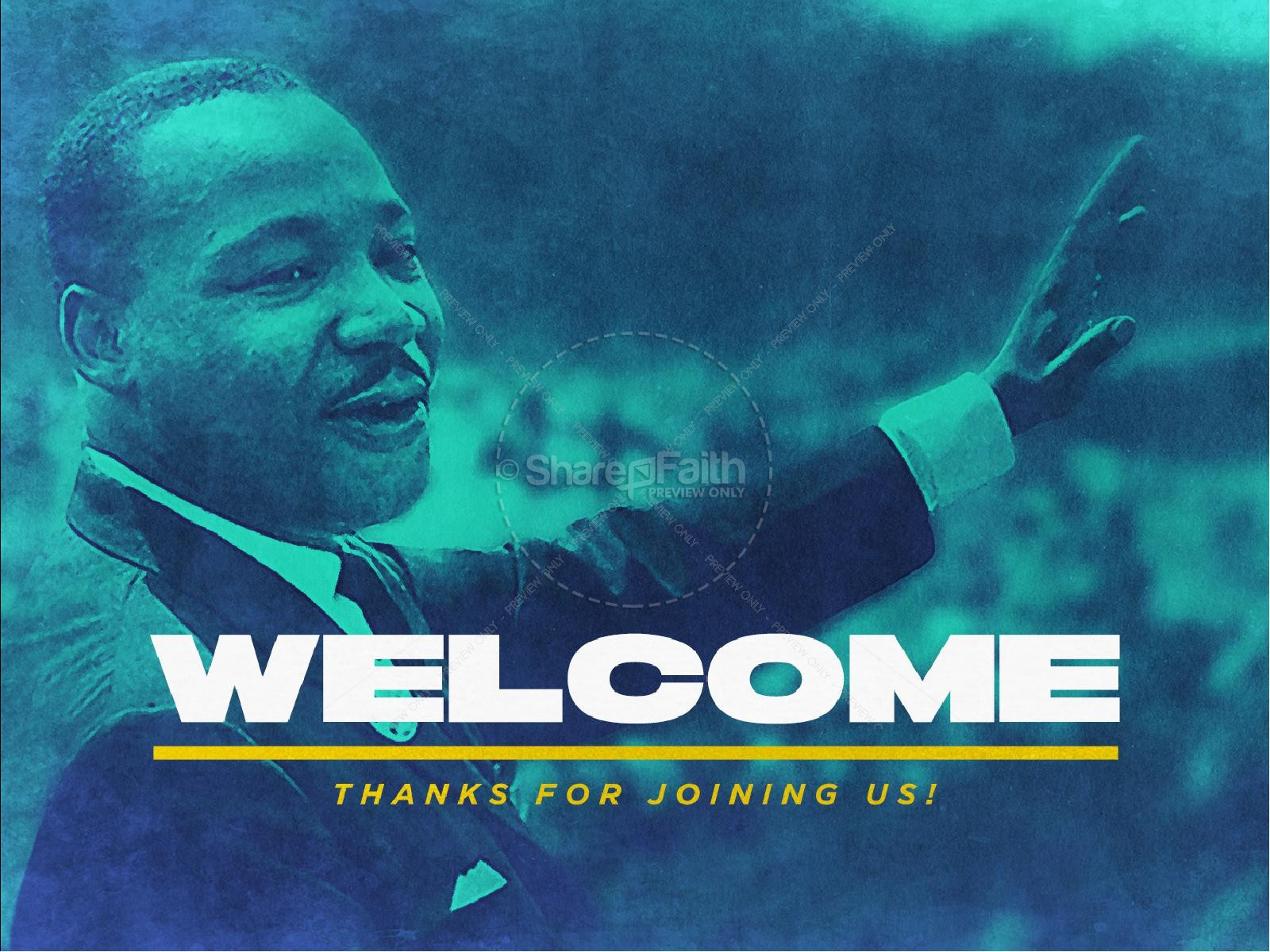 Martin Luther King Jr Day Service Graphic