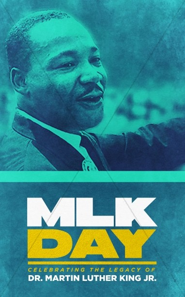 Martin Luther King Jr Day Service Bulletin Cover