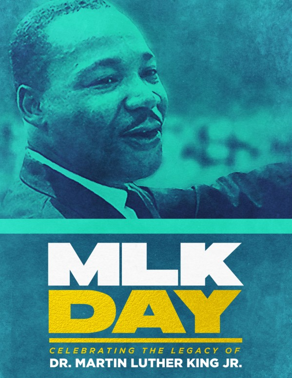 Martin Luther King Jr Day Service Flyer