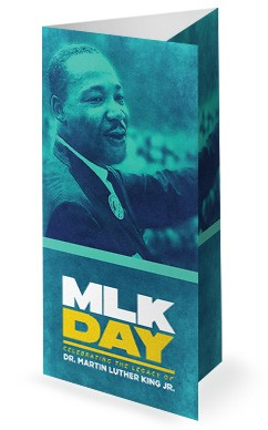 Martin Luther King Jr Day Service Trifold Bulletin Cover