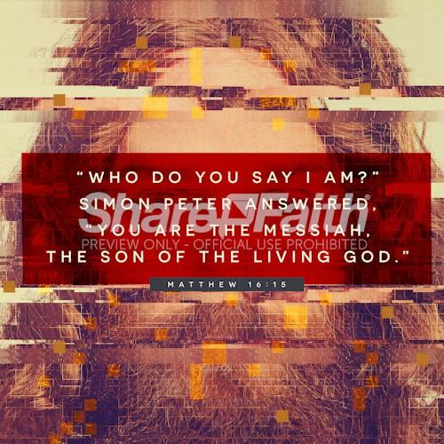 Matthew 16:15 Who Is Jesus Social Media Graphic