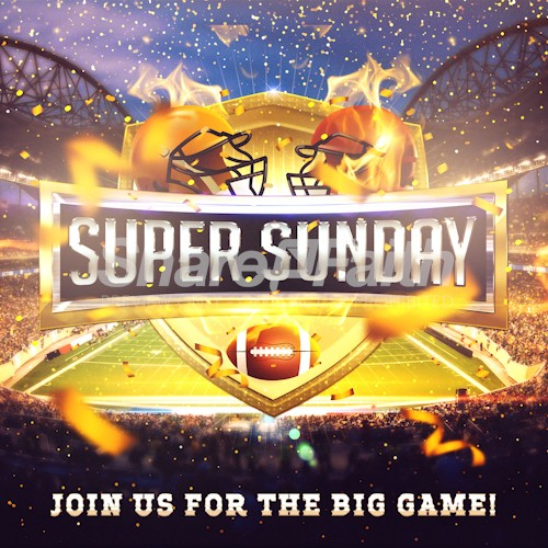 Super Sunday Social Media Graphic