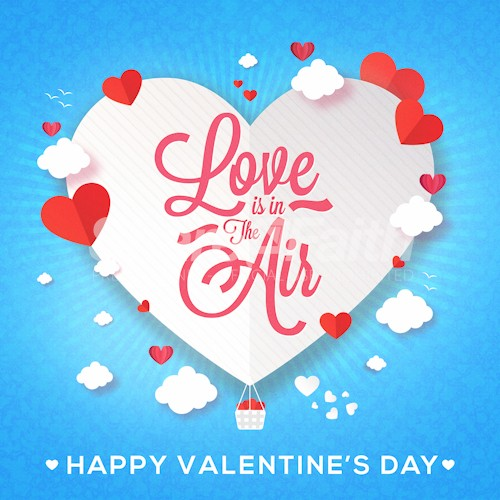 Love Is In The Air Valentine's Day Social Media Graphic