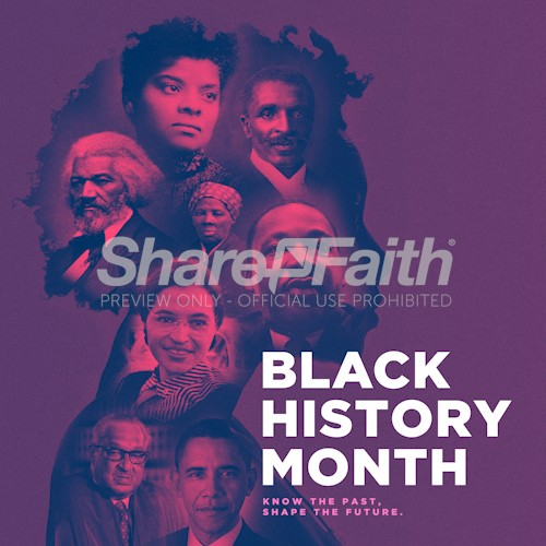 Black History Month Social Media Graphic