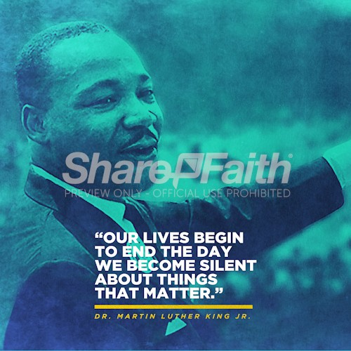 Martin Luther King Jr. Quote Social Media Graphic