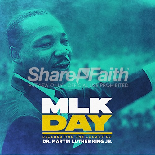 MLK Day Social Media Graphic