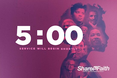 Black History Month Church Service Countdown Video