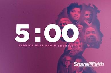Black History Month Church Service Countdown Video