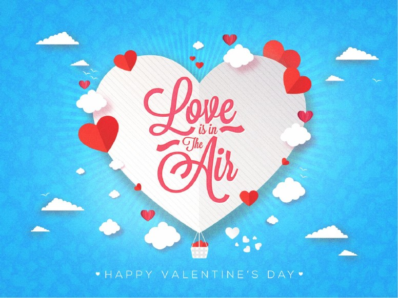 Love Is In The Air Valentine's Day Service Graphic