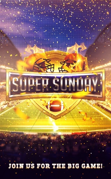 Super Sunday Stadium Bulletin Cover