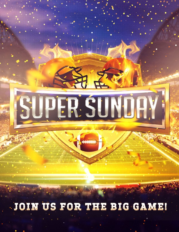 Super Sunday Stadium Flyer Template