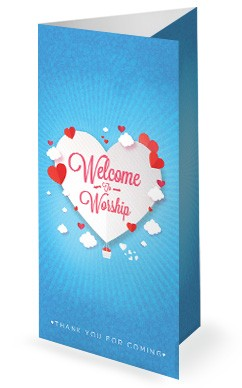 Love Is In The Air Valentine's Day Trifold Bulletin Cover
