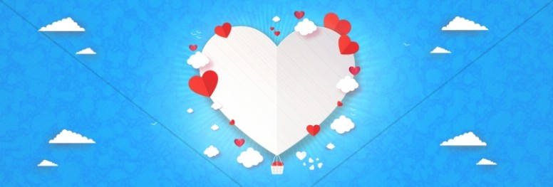 Love Is In The Air Valentine's Day Website Banner
