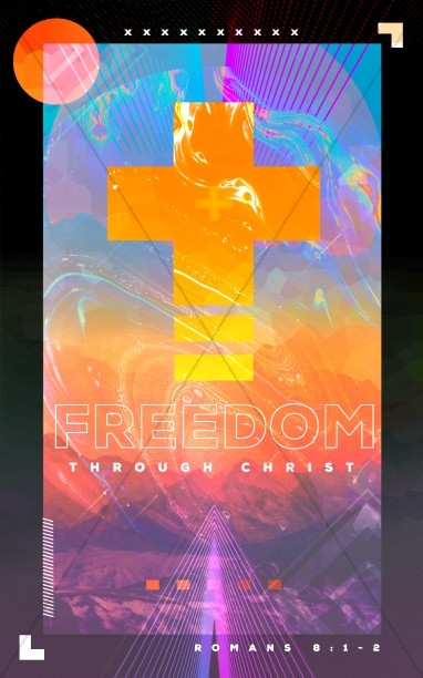 Freedom Through Christ Sermon Bulletin Cover