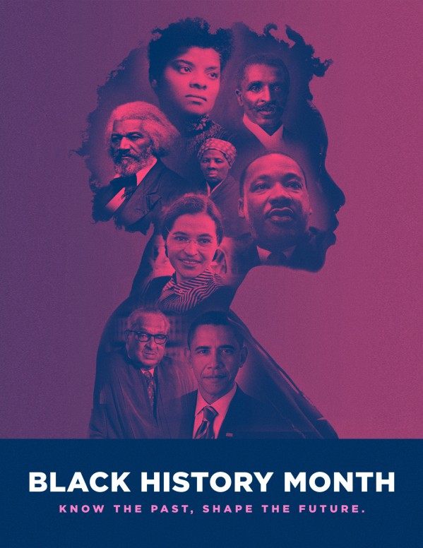 Black History Month Church Service Flyer