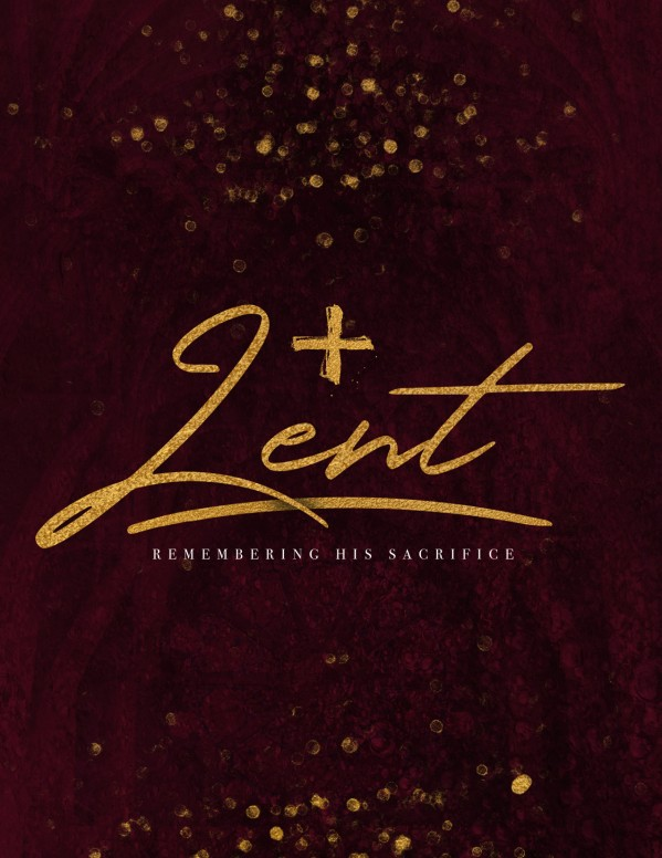 Ash Wednesday Season Of Lent Flyer Template