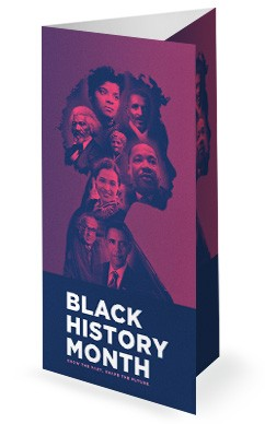 Black History Month Church Service Trifold Bulletin Cover