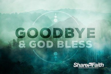 Prayer Service Church Goodbye Video