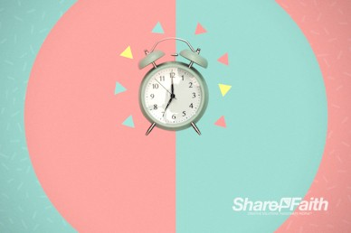 Spring Forward Alarm Clock Motion Background