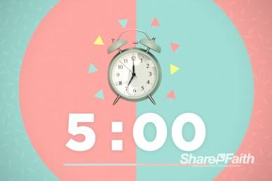Spring Forward Alarm Clock Countdown Video
