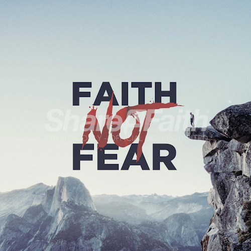 Faith Over Fear Social Media Graphic