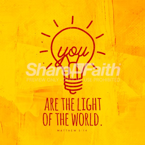 You Are The Light Of The World Social Media Graphic