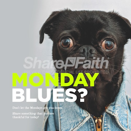 Monday Blues Social Media Graphic