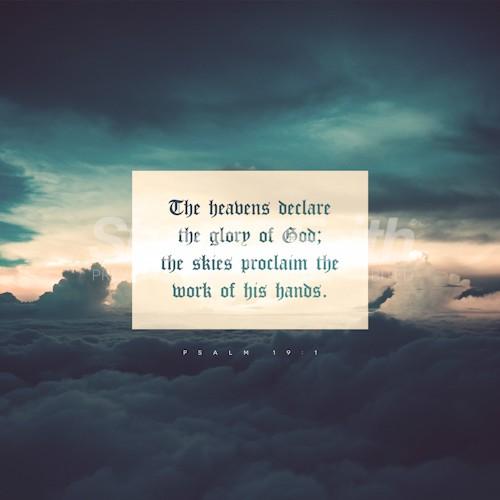 Psalm 19:1 Social Media Graphic