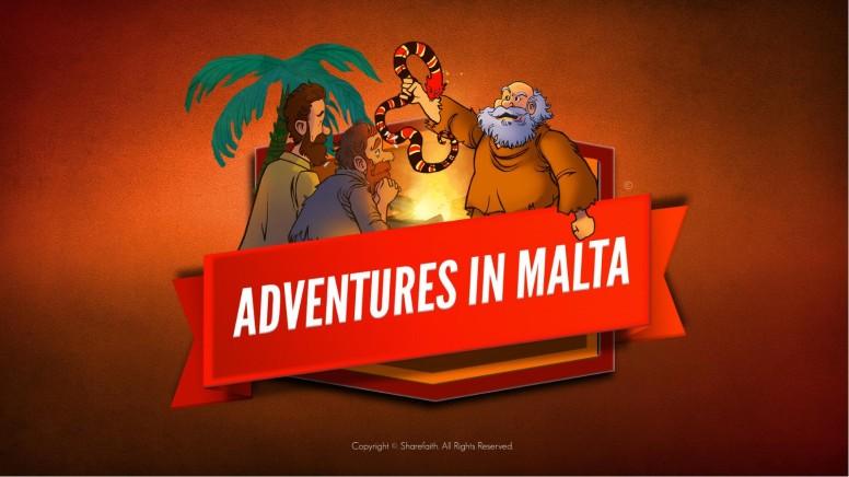 Acts 28 Adventures in Malta Kids Bible Story