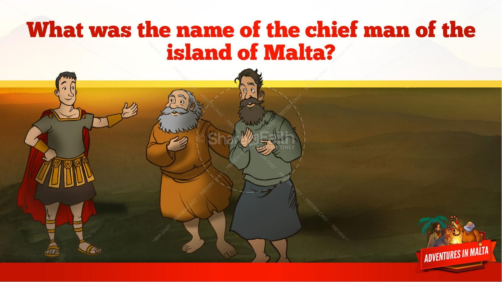 Acts 28 Adventures in Malta Kids Bible Story
