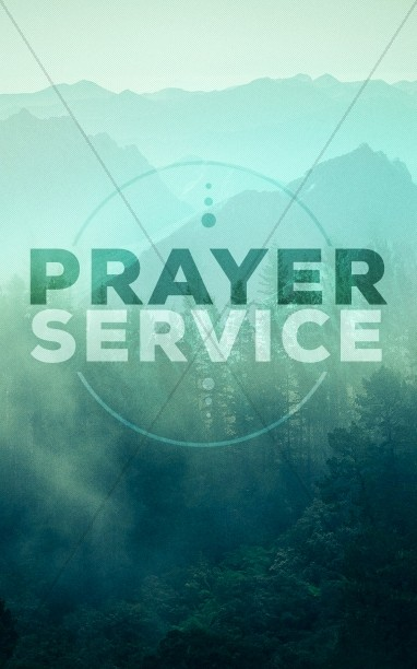 Prayer Service Church Bulletin Cover