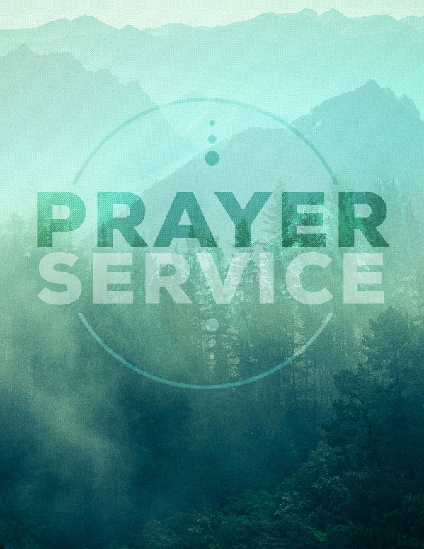 Prayer Service Church Flyer Template
