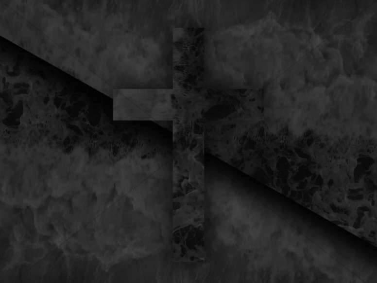 Abstract Cross Ocean Nature Worship Background