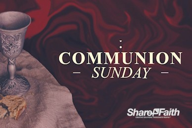 Communion Sunday Service Motion Graphic