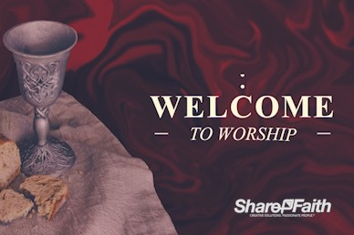 Communion Sunday Welcome Motion Graphic