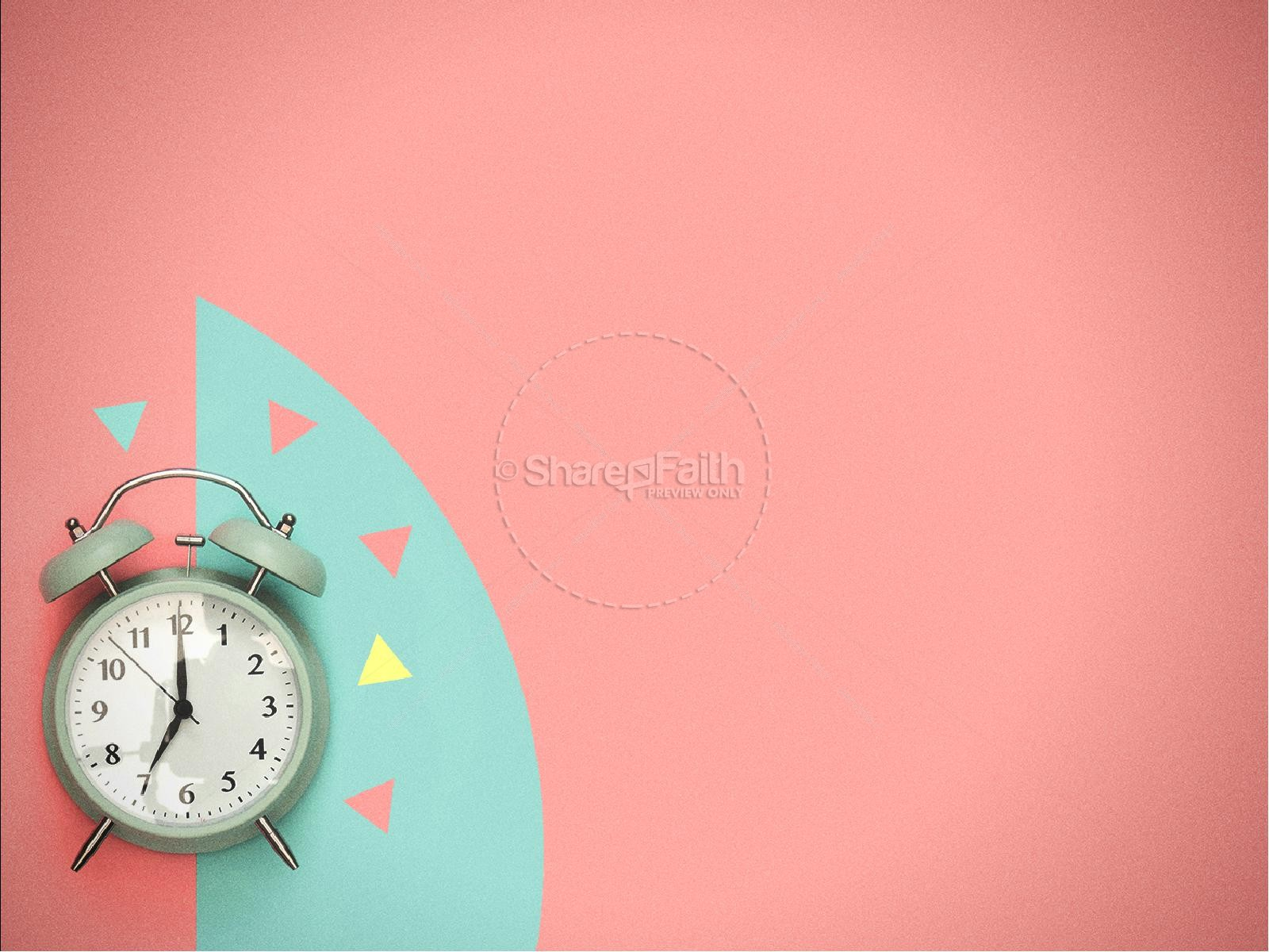Spring Forward Alarm Clock Graphic Design